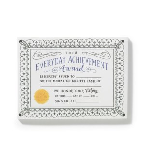 NP103-Fill-in Achievement Certificates Notepad