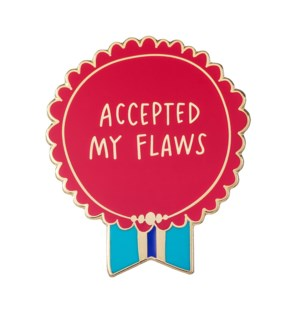 EP121-Accepted My Flaws Enamel Pin