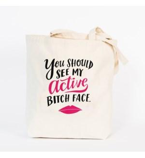 TB115-Bitch Face Tote Bag
