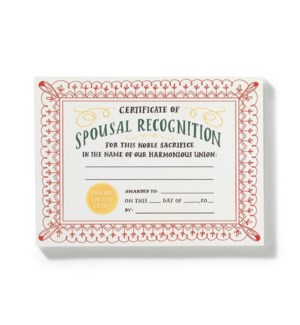 NP106-Spousal Achievement Notepad- In stock 11/8