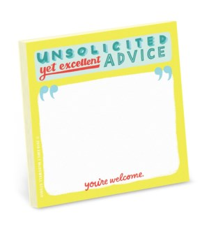Sticky Notes:Unsolicited Advice