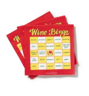 Napkins: Wine Bingo