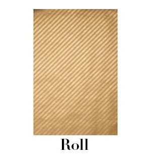 Gold Diagonal Stipes on Paper Bag Continuous Roll