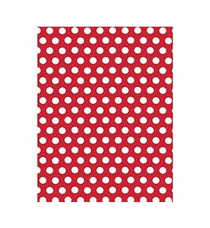 White Dots On Red Continuous Roll Wrap 26X39