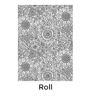 Coloring Floral - 2 Sheets/Roll