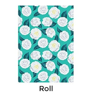 Teal Camellia - 2 Sheets/Roll