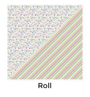 Rainbow Confetti Reversible - 2 Sheets/Roll