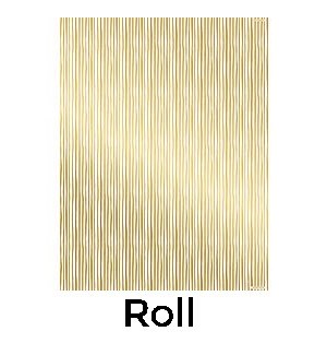 Gold Foil Stripes Continuous Roll