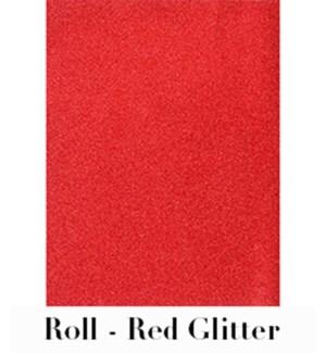 "Red Glitter Roll Wrap 28""X59"""