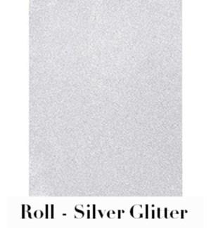 "Silver Glitter Roll Wrap 28""X59"""
