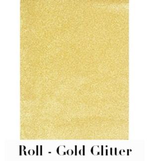 "Gold Glitter Roll Wrap 28""X59"""