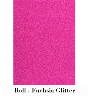 "Fuchsia Glitter Roll Wrap 28""X59"""