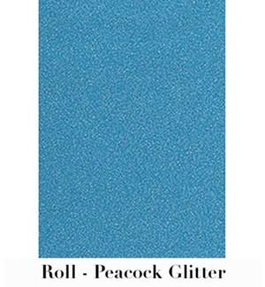 "Peacock Glitter Roll Wrap 28""X59"""