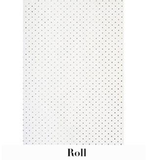 "Silver Glitter Dots Roll Wrap 28""X59"""