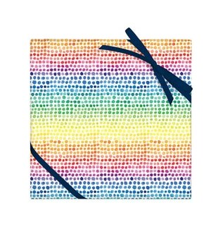 Watercolor Rainbow Dot  - 2 Sheets/Roll