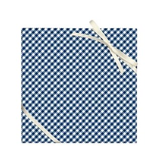 Navy Gingham  - 2 Sheets/Roll