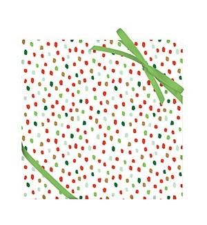Confetti Flurry Foil Continuous Roll Wrap