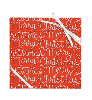 Merry Christmas Script - 2 Sheets / Roll (WNP)