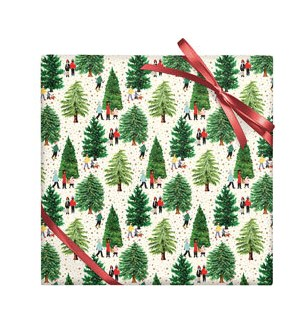Christmas Tree Farm - Foil on Stone Roll Wrap