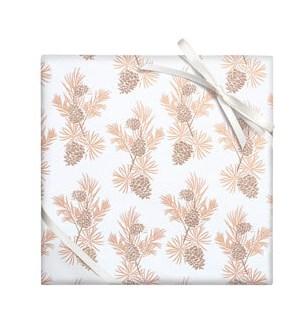 Champagne Glitter Pinecone - Cont Roll Wrap
