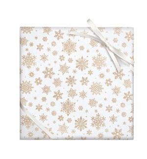 Champagne Glitter Snowflake - Continous Roll Wrap