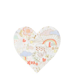 Valentine Doodle Large Napkins