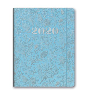 2020 Floral Vines (Slate Blue) Just Right Monthly Planner