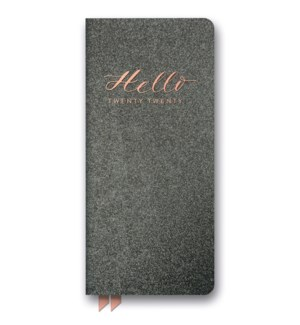 2020 Hello Charcoal Shimmer Leatheresque Jotter Agenda