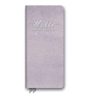 2020 Hello Lilac Shimmer Leatheresque Jotter Agenda
