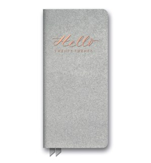 2020 Hello Silver Shimmer Leatheresque Jotter Agenda