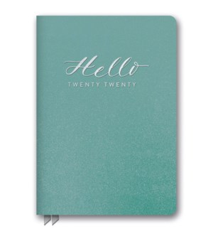2020 Hello Teal Shimmer Leatheresque Medium Weekly Agenda