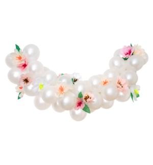 Blush Floral Balloon Garland Kit