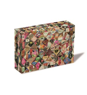 Crazy Quilt Notecard Box