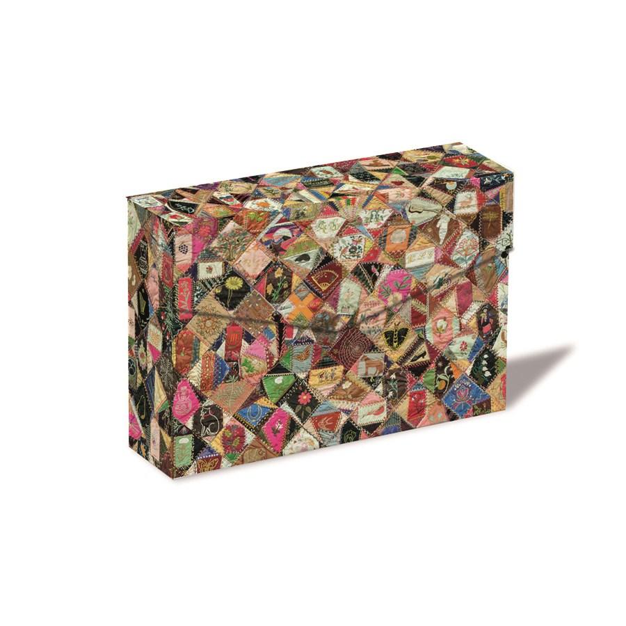 Crazy Quilt Notecard Box
