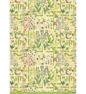 wrp-Green Garden Giftwrap