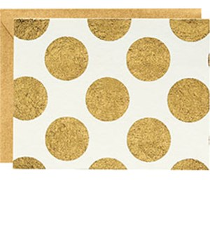 Gold Dots Ivory A2 Note
