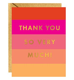 Color Block Foil A2 Thank You (10Pk)