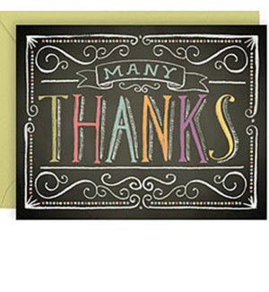 Colorful Chalk A2 Thank You (10Pk)