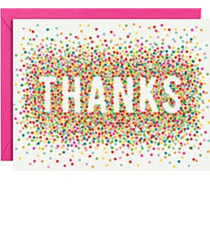 Colorful Confetti A2 Thank You (10Pk)