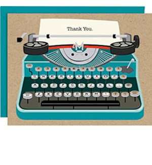Typewriter A2 Thank You (10Pk)