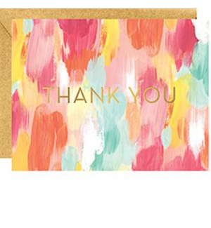 Brushstroke A2 Foil Thank You (10 Pk)