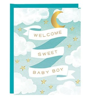 Welcome Baby Boy A2 Foil