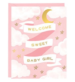 Welcome Baby Girls A2 Foil