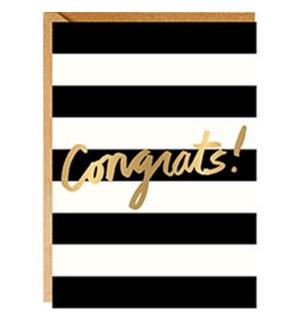 Congrats Stripes A6 Foil