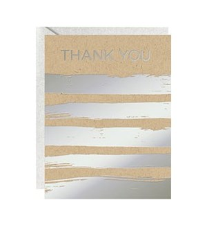 Silver Stripes Foil A2 Thank You A2 (10Pk)