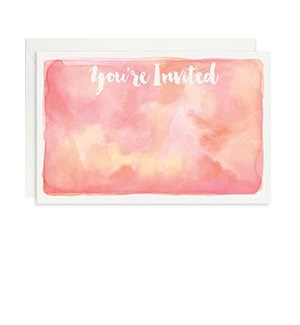 Watercolor A9 Invite