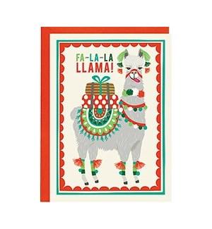 Fa-la-la-Llama A6 Single Card