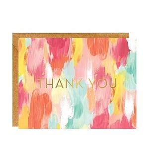 Brushstroke Foil A2 Thank You Single Card