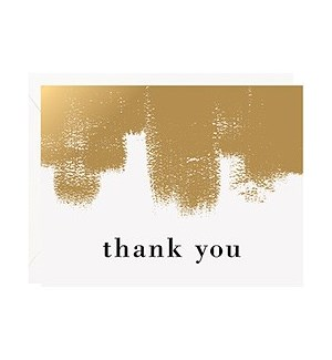 Gold Roller Foil A2 Thank You Single Card