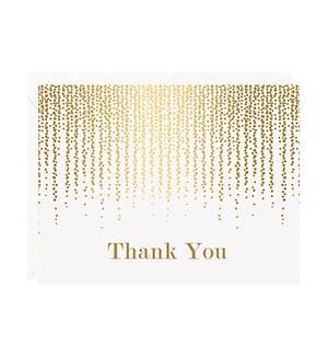 Chandelier Foil A2 Thank You Single Card